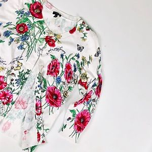Talbots floral multicolor button down cardigan
